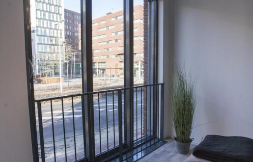 indoor balcony long stay open floor plan near station Amersfoort hotel de tabaksplant