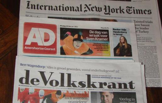 gratis internationale en national dagbladen voor hotelgasten de tabaksplant